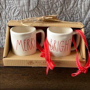 Rae Dunn Merry & Bright mini mug ornaments
